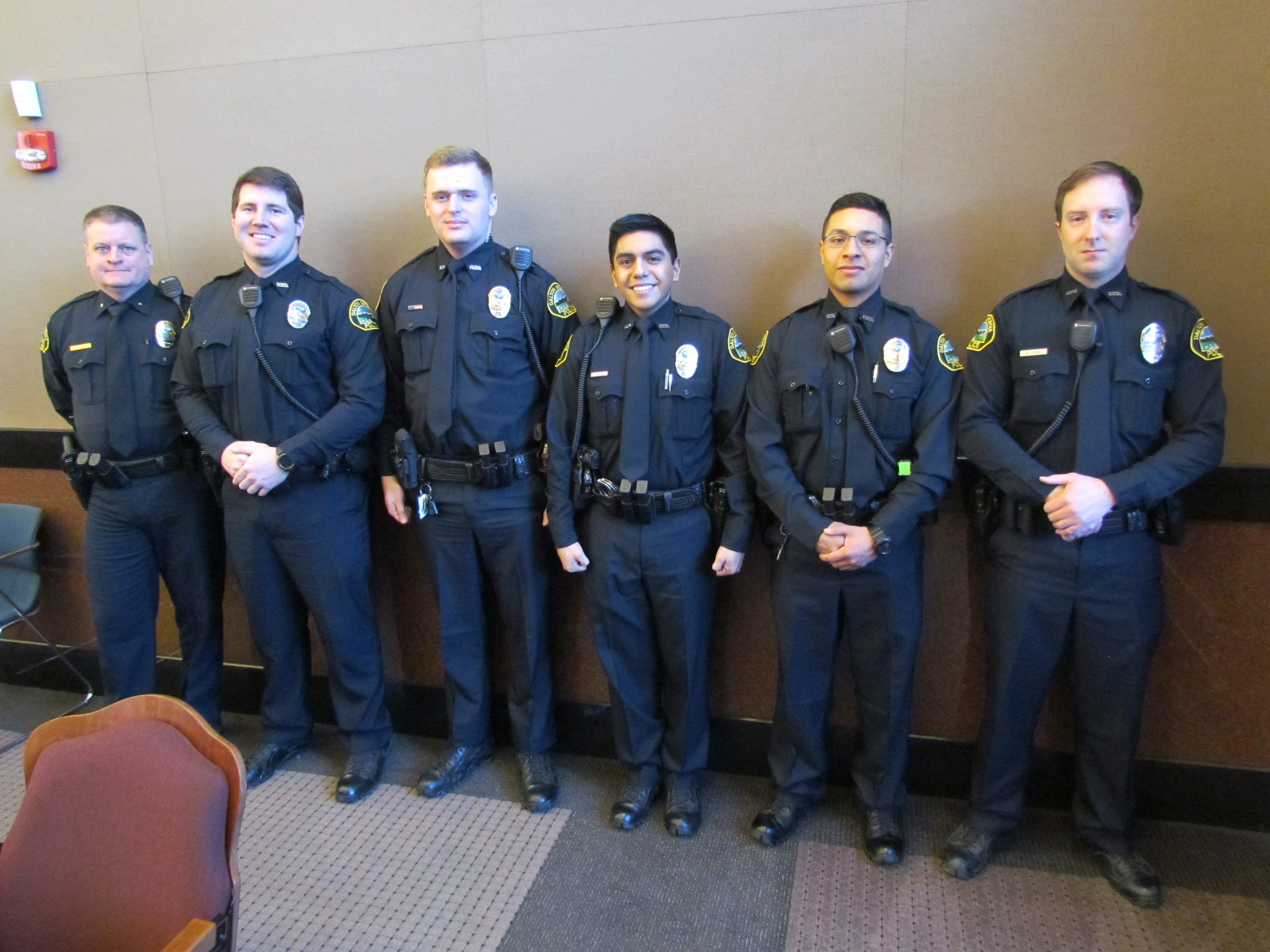 Five New Officers Confirmed By PSC – Dalton GA Police Department